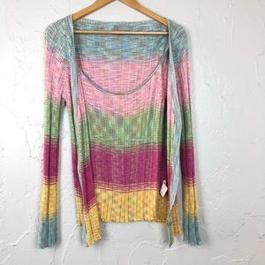 Missoni Italy Rainbow cardigan 2pc Set